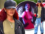 Rihanna stepped out in NYC on Monday afternoon. After meeting with friends, she headed to the dentist in a new outfit. She wore a army green shirt, with baggy ripped jeans, a bandana in her pocket and a black cap on her head. She flashed a smile as she walked out to her car, with a red solo cup in her hand.\n\nPictured: Rihanna\nRef: SPL1030356  180515  \nPicture by: 247PAPS.TV / Splash News\n\nSplash News and Pictures\nLos Angeles: 310-821-2666\nNew York: 212-619-2666\nLondon: 870-934-2666\nphotodesk@splashnews.com\n
