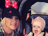 kellyandmichael 24 minutes ago · Disneyland, California Awww it was #ChristinaAguilera's daughter's first time at @Disneyland! #Disneyland60 #LiveDisneyland #KellyandMichael @Xtina #Disney #MinnieMouse