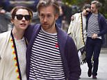 NEW YORK, NY - MAY 18:  Anne Hathaway, Adam Shulman  are seen in the West Village  on May 18, 2015 in New York City.  (Photo by Alo Ceballos/GC Images)