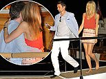 Matt Bellamy and new girlfriend, Ella Evans seem very affectionate holding hands, kissing and dancing at a yacht party in Cannes, during the Cannes Film Festival in France on Thursday, May 21, 2015.  Pictured: Matt Bellamy and Elle Evans Ref: SPL1028974  200515   Picture by: Luis Yllanes / Splash News  Splash News and Pictures Los Angeles: 310-821-2666 New York: 212-619-2666 London: 870-934-2666 photodesk@splashnews.com