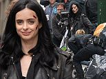***MANDATORY BYLINE TO READ INFPhoto.com ONLY*** Kristen Ritter is seen doing some scenes for her latest movie Violet. Aka Jessica Jones on the movie in New York City.  Pictured: Kristen Ritter Ref: SPL1033927  210515   Picture by: Elder Ordonez/INFphoto.com