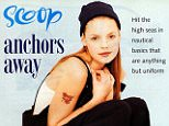 """katherine heigl isntagram 32 minutes ago #TBT Modeling days. The erm... early 1990's """"nautical"""" look??? Apparently... Complete with fake tattoo. Haha! ??"""