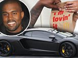 eURN: AD*170171923  Headline: FAMEFLYNET - Exclusive: Kanye West Stops By A McDonalds Drive Through In Los Angeles Caption: Picture Shows: Kanye West  May 21, 2015    **Min web / online fee £400 for set **    Rapper, Kanye West is seen keeping a not so low profile while stopping by a McDonald's drive through window in Los Angeles, California. While Kanye picked up his lunch in his black Lamborghini, he had some friends shooting photos and video of the exciting event!    **Min web / online fee £400 for set **    EXCLUSIVE all rounder  UK RIGHTS ONLY    Pictures by : FameFlynet UK © 2015  Tel : +44 (0)20 3551 5049  Email : info@fameflynet.uk.com Photographer: 922 Loaded on 22/05/2015 at 18:25 Copyright:  Provider: FameFlynet.uk.com  Properties: RGB JPEG Image (37468K 1443K 26:1) 4263w x 3000h at 72 x 72 dpi  Routing: DM News : GeneralFeed (Miscellaneous)  Parking: