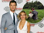 """HOLLYWOOD, CA - APRIL 13:  Actor Chris Hemsworth and wife actress Elsa Pataky arrive at the Los Angeles Premiere Marvel's """"Avengers Age Of Ultron"""" at Dolby Theatre on April 13, 2015 in Hollywood, California.  (Photo by Jon Kopaloff/FilmMagic)"""