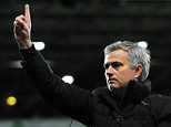 Chelsea manager Jose Mourinho gestures to supporters after the English Premier League soccer match between West Bromwich Albion and Chelsea at the Hawthorns, West Bromwich, England, Monday, May 18, 2015. (AP Photo/Rui Vieira)