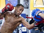 James DeGale Media workout for his fight with Andre Dirrell for the super-middleweight's vacant IBF title with Trainer Jim McDonnell 20th May 2015 Picture By Mark Robinson.