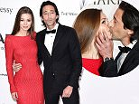 CAP D'ANTIBES, FRANCE - MAY 21:  Actor Adrien Brody (R) and Lara Lieto attend amfAR's 22nd Cinema Against AIDS Gala, Presented By Bold Films And Harry Winston at Hotel du Cap-Eden-Roc on May 21, 2015 in Cap d'Antibes, France.  (Photo by Ian Gavan/Getty Images)