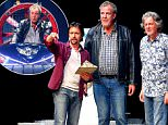 Mandatory Credit: Photo by Press Eye Ltd/REX Shutterstock (4786618a)\n Jeremy Clarkson, Richard Hammond and James May\n Clarkson, Hammond and May Live arena tour, the Odyssey Arena, Belfast, Northern Ireland - 22 May 2015\n \n
