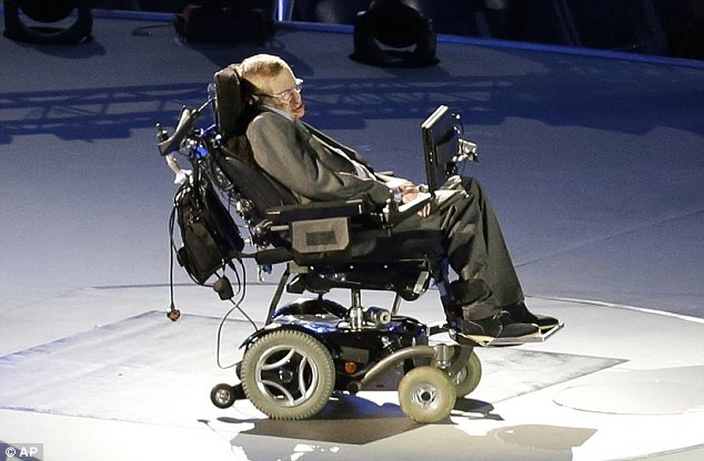 Inspiration: As one of Britain's most powerful symbols of human triumph over adversity, Prof Hawking, 70, has lived with the debilitating illness motor neurone disease since the age of 22