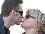 137638, EXCLUSIVE: Hugh Jackman and wife Deborra-Lee Furness walk their dogs at Hudson River Park. New York, New York - Friday May 22, 2015. Photograph: © GZR, PacificCoastNews. Los Angeles Office: +1 310.822.0419 sales@pacificcoastnews.com FEE MUST BE AGREED PRIOR TO USAGE
