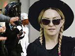 5/23/2015...EXCLUSIVE...New York, NY...Madonna and family walked to the Kabbalah Centre in Manhattan.\\nPhoto by Doug Meszler