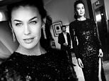 CANNES, FRANCE - MAY 20:  (EDITOR'S NOTE: This image has been converted to black and white) Megan Gale departs the Martinez Hotel during the 68th annual Cannes Film Festival on May 20, 2015 in Cannes, France.  (Photo by Gareth Cattermole/Getty Images for L'Oreal)