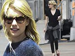 """EXCLUSIVE: Actresses Emily Meade, Emma Roberts and cast members Miles Heizer and Marc John Jefferies photographed on the set of """"Nerve,"""" presently filming on location in New York City. \n\nPictured: Emma Roberts\nRef: SPL1034003  220515   EXCLUSIVE\nPicture by: AR Photo/Splash News\n\nSplash News and Pictures\nLos Angeles: 310-821-2666\nNew York: 212-619-2666\nLondon: 870-934-2666\nphotodesk@splashnews.com\n"""