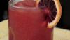 Smoothie orange sanguine sucrée