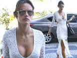 eURN: AD*170301446  Headline: EXCLUSIVE: Alessandra Ambrosio shows ample cleavage in Rio Caption: UK CLIENTS MUST CREDIT: AKM-GSI ONLY EXCLUSIVE: Alessandra Ambrosio shows her sexy cleavage in a beautiful white dress with a plunging neckline as she steps out in Rio de Janeiro, Brazil. The Victoria's Secret Angel is in town to film a few scenes for a Brazilian soap opera.  Pictured: Alessandra Ambrosio Ref: SPL1035653  230515   EXCLUSIVE Picture by: AKM-GSI / Splash News   Photographer: AKM-GSI / Splash News  Loaded on 24/05/2015 at 10:40 Copyright:  Provider: AKM-GSI  Properties: RGB JPEG Image (26551K 1427K 18.6:1) 2458w x 3687h at 72 x 72 dpi  Routing: DM News : GeneralFeed (Miscellaneous) DM Showbiz : SHOWBIZ (Miscellaneous) DM Online : Online Previews (Miscellaneous), CMS Out (Miscellaneous)  Parking: