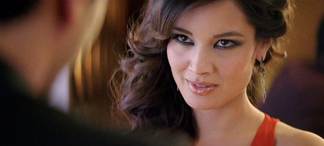 Bond girl: Berenice Marlohe, who appears in the new film Skyfall, in the advert