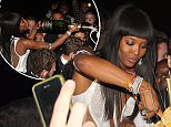 OIC - XCLUSIVEPIX.COM - EXCLUSIVE - MUST AGREE FEES BEFORE USAGE - CALL 077688 36669 -  Naomi Campbell seen enjoying her Birthday in France by celebrating with friends and a huge golden cake on the 24th May 2015. Photo XclusivePix/OIC 077688 36669/0203 174 1069