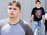 Prince Jackson stepped out in cargo pants and a raglan t-shirt.  The son of the King of Pop, Prince's hair was cut short, with white-walled sides,   The son of the King of Pop recently got into a bit of trouble with the family, accompanying his fourteen-year-old cousin, Jermajesty, to a massage parlor. Friday, May 22, 2015 X17online.com \\non Friday, May 22, 2015 X17online.com\\nNO WEB SITE USAGE\\nMAGAZINES DOUBLE FEES\\nAny queries call X17 UK Office /0034 966 713 949/926 \\nAlasdair 0034 630576519 \\nGary 0034 686421720\\nLynne 0034 611100011