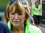 Exclusive Swollen faced Anne Robinson heads out from near her Home in jogging outfit with a very puffy face almost making her look unrecogisable.\nTillenDove 110515