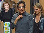 24.MAY.2015 - ROME - ITALY **EXCLUSIVE ALL ROUND PICTURES* *STRICTLY NOT AVAILABLE IN ITALY* COMIC ACTOR BEN STILLER WITH HIS WIFE CHRISTINE TAYLOR ENJOY THEIR TIME HAVING DINNER TOGETHER IN THE ETERNAL CITY OF ROME, ITALY BYLINE MUST READ : XPOSUREPHOTOS.COM ***UK CLIENTS - PICTURES CONTAINING CHILDREN PLEASE PIXELATE FACE PRIOR TO PUBLICATION *** *STRICTLY NOT AVAILABLE FOR ITALY, FRANCE OR GERMANY* *UK CLIENTS MUST CALL PRIOR TO TV OR ONLINE USAGE PLEASE TELEPHONE 0208 344 2007