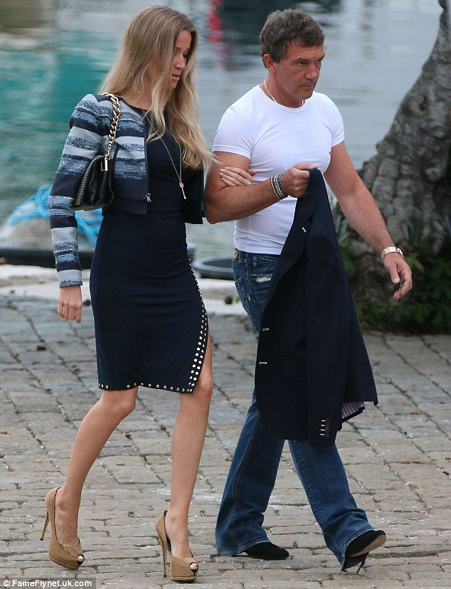 Arm in arm:The couple were in Monaco to attend the Formula 1 grand prix, arriving in style aboard a beautiful yacht with friends
