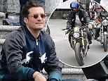 23.MAY.2015 - COMA - ITALY **EXCLUSIVE ALL ROUND PICTURES** ORLANDO BLOOM PROMOTING HIS BIKE BMW S 1000 R CUSTOM MADE TO MEASURE FOR HIM DURING THE EVENT CONCOURS D'ELEGANCE PROMOTION BY BMW AT VILLA ERBA, COMA, ITALY.  *AVAILABLE FOR UK SALE ONLY* BYLINE MUST READ : CIAO PIX/XPOSUREPHOTOS.COM ***UK CLIENTS - PICTURES CONTAINING CHILDREN PLEASE PIXELATE FACE PRIOR TO PUBLICATION *** *UK CLIENTS MUST CALL PRIOR TO TV OR ONLINE USAGE PLEASE TELEPHONE 0208 344 2007**