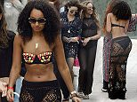 Picture Shows: Leigh-Anne Pinnock  May 24, 2015    Little Mix members, Leigh-Anne Pinnock and Jade Thirwall were spotted out with professional dancer, Danielle Peazer (ex girlfriend of One Direction's Liam Payne) in Marbella, Spain.     EXCLUSIVE all rounder  WORLDWIDE RIGHTS - NO SPAIN    Pictures by : FameFlynet UK © 2015  Tel : +44 (0)20 3551 5049  Email : info@fameflynet.uk.com