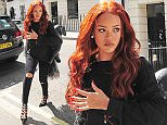 26.MAY.2015 - LONDON  - UK **EXCLUSIVE ALL ROUND PICTURES** US CHART TOPPER RIHANNA SPORTING LONG RED HAIR ON HER VISIT TO LONDON IS SEEN AT CLARIDGES STOPPING OFF FOR SOME AFTERNOON TEA. BYLINE MUST READ : XPOSUREPHOTOS.COM ***UK CLIENTS - PICTURES CONTAINING CHILDREN PLEASE PIXELATE FACE PRIOR TO PUBLICATION *** **UK CLIENTS MUST CALL PRIOR TO TV OR ONLINE USAGE PLEASE TELEPHONE   44 208 344 2007 **