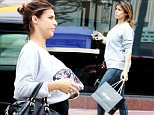 EXCLUSIVE. Coleman-Rayner. Los Angeles, CA, USA\nMay 22, 2015\nElisabetta Canalis shows off her baby bump as she runs errands around Los Angeles. The ex-girlfriend of George Clooney, who recently announced that she was pregnant, met up with celebrity stylist Valentina Micchetti and her daughter Emily for lunch. This is the first time Elisabetta has been photographed with her bump since the news broke a few months ago.\nCREDIT LINE MUST READ: Coleman-Rayner\nTel US (001) 310 474 4343 - office \nTel US (001) 323 545 7584 - cell\nwww.coleman-rayner.com