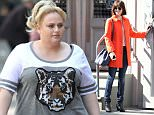 137756, Rebel Wilson wears a tiger print t-shirt while filming for 'How To Be Single' in the SoHo, NYC. New York, New York - Tuesday May 26, 2015. Photograph: LGjr-RG, © PacificCoastNews. Los Angeles Office: +1 310.822.0419 sales@pacificcoastnews.com FEE MUST BE AGREED PRIOR TO USAGE