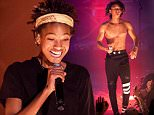 Willow & Jaden Smith perform on stage during the first AFROPUNK PARIS Music Festival, held at Trianon concert hall in Paris, France, on May 24, 2015. Photo by Audrey Poree/ ABACAPRESS.COM