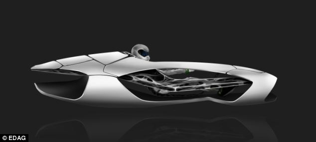 A German automotive company has unveiled a conceptual futuristic car body (pictured) that it claims will only be possible thanks to the 3D printing process