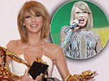 """LAS VEGAS, NV - MAY 17:  Recording artist Taylor Swift, winner of Top Artist, Top Female Artist, Top Billboard 200 Artist, Top Billboard 200 Album for """"1989,"""" Top Hot 100 Artist, Top Digital Songs Artist, Top Streaming Song (Video) for """"Shake It Off,"""" and Billboard Chart Achievement Award, poses in the press room during the 2015 Billboard Music Awards at MGM Grand Garden Arena on May 17, 2015 in Las Vegas, Nevada.  (Photo by Steve Granitz/WireImage)"""