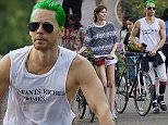 EXCLUSIVE: Jared Leto spotted showing female companion different areas of Central Park while touring on bicycles in NYC.  Pictured: Jared Leto Ref: SPL1035671  240515   EXCLUSIVE Picture by: J. Webber / Splash News  Splash News and Pictures Los Angeles: 310-821-2666 New York: 212-619-2666 London: 870-934-2666 photodesk@splashnews.com