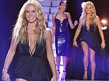 *** MANDATORY BYLINE TO READ: Syco / Thames / Corbis ***\nThe Britain's Got Talent judges and Ant and Dec are seen at the 2015 Britain's Got Talent live show on Monday, May 25th.\n\nPictured: Amanda Holden\nRef: SPL1036675  250515  \nPicture by: Dymond / Syco / Thames / Corbis\n\n
