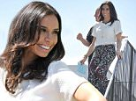 26 May 2015 - LONDON - UK  CHRISTINE BLEAKLEY SEEN FLMING FOR THE ITV THIS MORNING SHOW.   BYLINE MUST READ : XPOSUREPHOTOS.COM  ***UK CLIENTS - PICTURES CONTAINING CHILDREN PLEASE PIXELATE FACE PRIOR TO PUBLICATION ***  **UK CLIENTS MUST CALL PRIOR TO TV OR ONLINE USAGE PLEASE TELEPHONE   44 208 344 2007 **