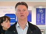 The Manchester United manager Louis van Gaal joins the queue for his budget airline flight to Portugal on Monday night. Louis and wife Truus were driven to Manchester Airport early Monday evening in his £100,000 Mercedes S 500 car by a Man United driver. The driver then took their luggage to the Ryanair check-in followed by Louis and wife. After they checked-in the driver walked them to passport control.