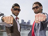 Amir Khan and  Chris Algieri pose by the Brooklyn Bridge ahead of their fight on Friday 29/5/15 at the Barclays Centre, New York. 25th May 2015. Picture By Mark Robinson.