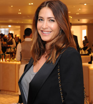 Leading the way: Lisa Snowdon attended the Fortnum & Mason launch of its new fragrance and beauty haven in Piccadilly on Monday evening