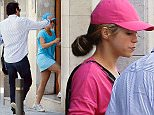 May 26th, 2015 - Barcelona BLUE SHAKIRA TURNS INTO PINK SHAKIRA. SHAKIRA VISITS BEAUTY CENTER IN BLUE AND LEAVES IN PINK. Singer Shakira visited her favourite beauty center in Barcelona.  At the wheel of her white audi Q7 with her brother Tonino, the star arrived at around 13:30 in light blue skirt, shirt and cap, and left two hours later at 15:30 in black trousers and pink shirt, and in this case she took sit close to the pillot, and was her brother who drove away. ****** BYLINE MUST READ : © Spread Pictures ****** ****** No Web Usage before agreement ****** ****** Strictly No Mobile Phone Application or Apps use without our Prior Agreement ****** Enquiries at photo@spreadpictures.com