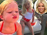 EROTEME.CO.UK\nFOR UK SALES: Contact Caroline 44 207 431 1598\nCelebrity social network pictures.\nPicture shows: Jessica Simpson's daughter\nNON-EXCLUSIVE: Tuesday 26th May 2015\nJob: 150526UT1 London, UK\nEROTEME.CO.UK 44 207 431 1598\nDisclaimer note of Eroteme.co.uk: Eroteme Ltd does not claim copyright for this image. This image is merely a supply image and payment will be on supply/usage fee only.