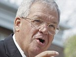 FILE - In this Aug. 17, 2007, file photo, former House Speaker Dennis Hastert, R-Ill., announces that he will not seek re-election for a 12th term in Yorkville, Ill. Federal prosecutors have indicted Thursday, May 28, 2015, the former U.S. House Speaker on bank-related charges. (AP Photo/Brian Kersey, File)