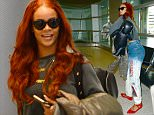 27 May 2015 - Miami - America  Rihanna arrived at Miami airport, flying in from London. The singer went straight to a private airport in Fort Lauderdale where she boarded a private jet.   BYLINE MUST READ : XPOSUREPHOTOS.COM  ***UK CLIENTS - PICTURES CONTAINING CHILDREN PLEASE PIXELATE FACE PRIOR TO PUBLICATION ***  **UK CLIENTS MUST CALL PRIOR TO TV OR ONLINE USAGE PLEASE TELEPHONE  44 208 344 2007 ***