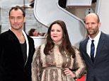 Mandatory Credit: Photo by David Fisher/REX Shutterstock (4795620ax)  Jude Law, Melissa McCarthy and Jason Statham  'Spy' film premiere, London, Britain - 27 May 2015