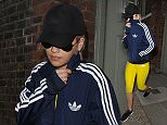 """Rita Ora runs errands around Notting Hill, dressed in Adidas gym wear. She visited a recording studio and a flower stall, before grabbing a cheeky Nandos on the way home. However Rita was uncharacteristically camera shy, hiding her face and even refusing to get out of her car on occasions because she did not want to be pictured. Her eyes looked very puffy, when she took off her sunglasses, and she was wearing no makeup. It is thought the reason behind this is due to rapper A$AP Rocky releasing his new single """"Better Things"""" in which he claims to have had a sexual encounter with Rita.\n\nPictured: Rita Ora\nRef: SPL1037813  270515  \nPicture by: Squirrel / Splash News\n\nSplash News and Pictures\nLos Angeles: 310-821-2666\nNew York: 212-619-2666\nLondon: 870-934-2666\nphotodesk@splashnews.com\n"""