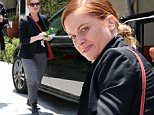Pictured: Amy Poehler\nMandatory Credit © Bella/Broadimage\n***EXCLUSIVE***\nMakeup Free Amy Poehler showing the Middle Finger and smiling as she waves goodbye  while out in West Hollywood\n\n5/27/15, West Hollywood, California, United States of America\n\nBroadimage Newswire\nLos Angeles 1+  (310) 301-1027\nNew York      1+  (646) 827-9134\nsales@broadimage.com\nhttp://www.broadimage.com\n
