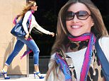 West Hollywood, CA - A Sofia Vergara exits a retail store this afternoon looking happy, she wore a white blouse, ripped jeans and blue strap platform sandals, she added color to her casual ensemble wearing a colored scarf wrapped around her neck.\nAKM-GSI          May 27, 2015\nTo License These Photos, Please Contact :\nSteve Ginsburg\n(310) 505-8447\n(323) 423-9397\nsteve@akmgsi.com\nsales@akmgsi.com\nor\nMaria Buda\n(917) 242-1505\nmbuda@akmgsi.com\nginsburgspalyinc@gmail.com