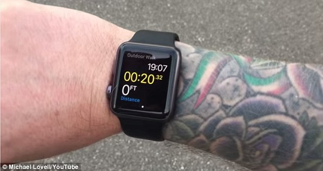 Some owners of the Apple Watch have found that it malfunctions if worn on tattooed wrists (pictured). Apple confirmed that 'permanent or temporary changes to your skin, such as some tattoos, can impact heart rate sensor performance' on an official support page