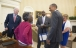 President Obama welcomes Vivian Bailey to the Oval Office