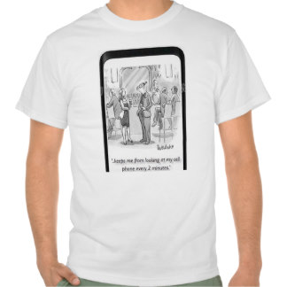 CELL PHONE ADDICT with Elizabethan Collar T Shirt